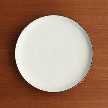 白磁千段(はくじせんだん) 4号 平皿