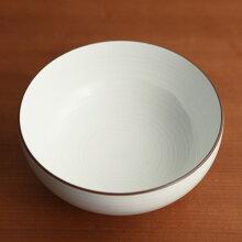 白磁千段(はくじせんだん) 5寸 浅めん丼