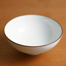 白磁千段(はくじせんだん) 4.2寸飯碗