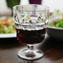 TRIA プレスガラス風 樹脂ワイングラス