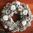 クリスマス/装飾/飾り/リース/天然素材 /アンジェクリスマスリース 直径34cm【楽ギフ_包装】...