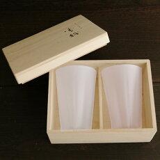 さくらさくグラス(SAKURASAKU)タンブラー雪桜紅白