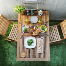 Nino 折りたたみテーブル 120×75cm 【折りたたみ アウトドアテーブル ガーデンテーブル ウッドテーブル ベランダ】