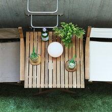 Byron 折りたたみテーブル 60×60cm 【折りたたみ アウトドアテーブル ガーデンテーブル ウッドテーブル ベランダ】
