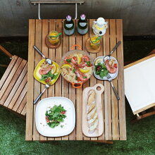 Byron 折りたたみテーブル 90×70cm 【折りたたみ アウトドアテーブル ガーデンテーブル ウッドテーブル ベランダ】