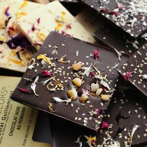 CHOC'FLEURS 花チョコレート タブレット100g/ショックフルール