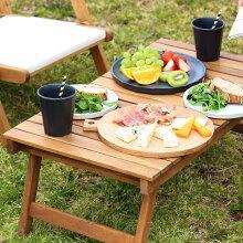 フォールディング テーブル 73×40cm 収納バッグ付き 【アウトドアテーブル ウッドテーブル アカシア 折りたたみ キャンプ ピクニック】