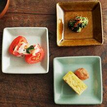 益子焼 和田窯 スクエア豆皿