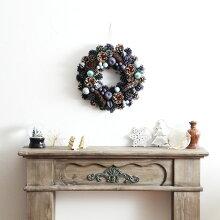 クリスマス ブルーコーンリース直径39cm(19%OFF)