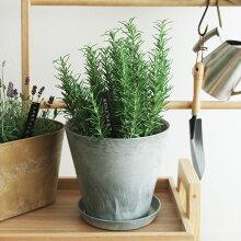 ART STONE S プランター&ソーサー 直径21.5cm/植木鉢