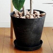 ART STONE L プランター&ソーサー 直径32cm/植木鉢