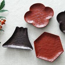 栗材の豆皿 漆仕上げ