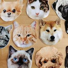 リアルモチーフタオル CAT/DOG
