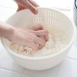 【日本製】 米とぎにも使えるザルとボウル
