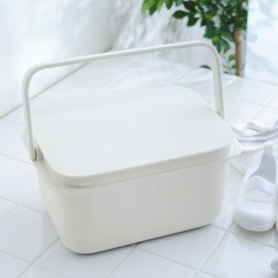 漬け置き洗いにぴったり!使わないときにはスタッキング可能な収納にもなるマーナの蓋つきバケツ