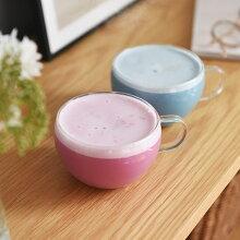 泡立つ青いラテ ブルーラテ バタフライピー