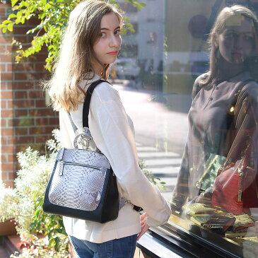 【送料無料】リュック パイソン 牛革 レディース バッグ  ミニバッグ おしゃれ 女性用 高級 新作