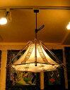 バンブーのペンダントランプ六角錐とサンダルウッドの枝[横幅最大約.43...