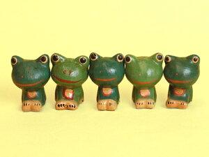 ちびカエル 5匹セット グリーン【あす楽対応_関東】【蛙 フロッグ】【アジアン アジアン雑貨 ...