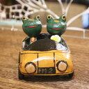 5250円以上で送料無料!どこまでも走り続けたい☆木製 ドライブ♪ カップル カエル <黄色>...