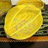竹の蚊帳かご 手描き・楕円黄色Mサイズ[37cmx25cm] アジアン 雑貨 バリ 雑貨 タイ 雑貨 アジアン インテリア