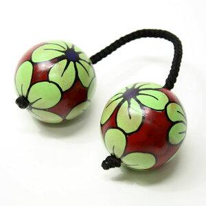 アジアの楽器パチカ(アサラト) 単品 花柄 濃赤アジアン雑貨【アジアン アジアン バリ アジア…