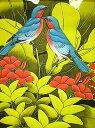 バリアート絵画M縦『森の小鳥達薄青黄葉』 アジアン 雑貨 バリ 雑貨 ...