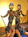 インドネシア 影絵芝居 人形芝居 ワヤンゴレ ワヤン・クリ 伝統工芸 操り人形 木製 ア……