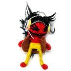 ブードゥー人形ストラップFDJ赤[H.6cm]【エスニック タイ アジアン タイ雑貨】【楽ギフ_包装】【ゆうパケット対応】