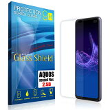 液晶保護フィルム AQUOS sense4 plus 2.5D 9H 指紋防止(全透明) ガラスフィルム 強化ガラス アクオス センス フォー プラス