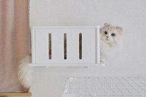 キャットトンネル キャットステップ キャットタワー 壁 省スペース おしゃれ シンプル DIY 猫 ねこ ステップ 棚 白 クリア