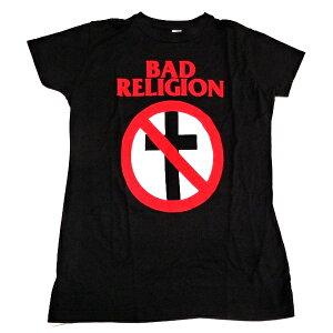 ☆☆☆【2枚までメール便対応可】BAD RELIGION バッドレリジョンCROSS BUSTER Babydoll レディース オフィシャル バンドTシャツ【あす楽対応】