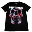 ☆☆☆DEFTONES デフトーンズMINERVA ROSE SKULL オフィシャル バンドTシャツ【2枚までメール便対応可】【あす楽対応】