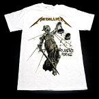 /METALLICA メタリカJUSTICE WHITE オフィシャル バンドTシャツ / 2枚までメール便対応可 / あす楽対応