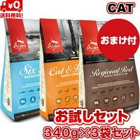 【送料無料】オリジンキャット&キトゥンレジオナル6フィッシュ340g3袋セット正規品キャットフードバイオロジックフードドライフードオールステージ全猫種用子猫成猫高齢猫ペットフード穀物不使用無添加グレインフリーお試し