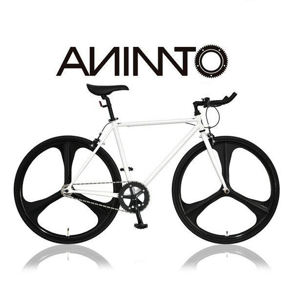 【ANIMATOアニマート】PHANTOM(ファントム) シングルスピード 自転車 ストリート スタイリッシュ 街乗り 3スポークピスト:自転車専門店アニマート