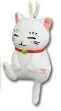 【新品】一番くじ 3月のライオン ニャーちゃんがいっぱい! E賞 ぶらりんマスコット シロちゃん 単品画像