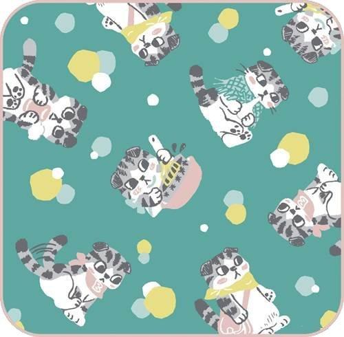 【新品】一番くじ 3月のライオン ニャーちゃんがいっぱい! H賞 タオルコレクション ブンちゃん 単品画像