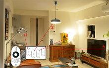 *専用リモコンで光の色と明るさが調節できるLED電球RELED(リリド)E2601//