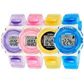 SYNOKE モデル99268 キッズ(子供用)ウォッチ スポーツウォッチ 腕時計 シリコンバンド パステルカラー