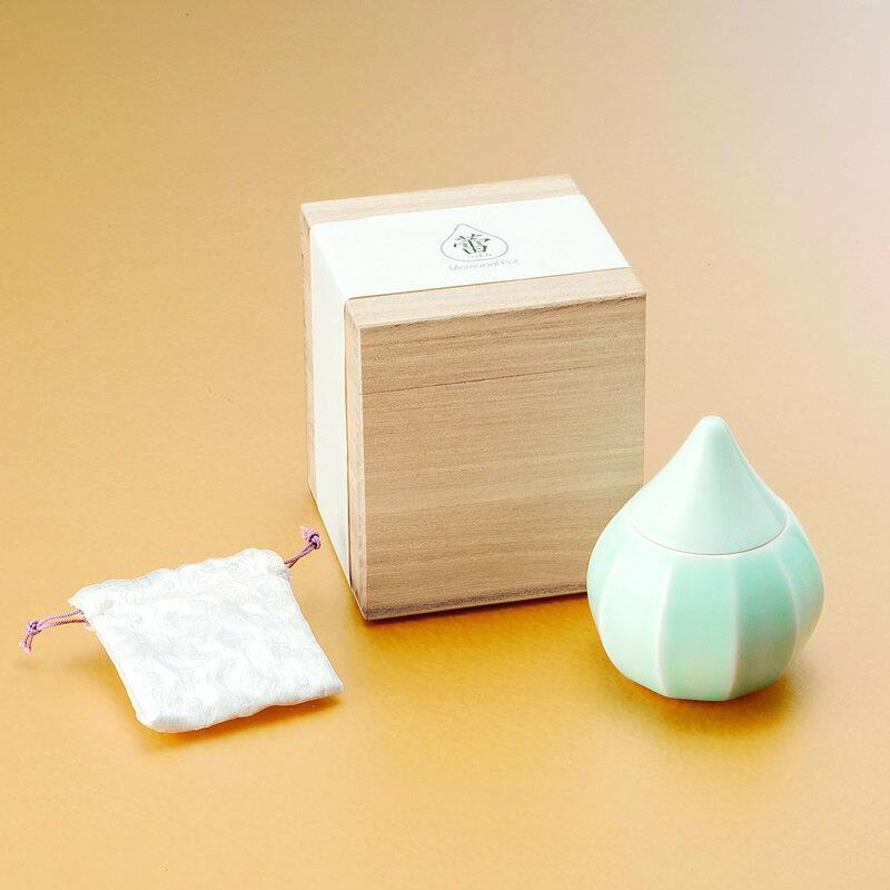 ミニ骨壺 陶磁器製骨壺 メモリアルポット 蕾(つぼみ)