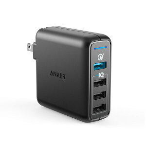 AnkerPowerPortSpeed4(QC3.0搭載、43.5W4ポートUSB急速充電器)iPhone、iPad、Android各種対応A2040111