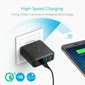 AnkerPowerPortSpeed2(QC3.02ポート搭載、39.5W2ポートUSB急速充電器)iPhone、Android各種対応