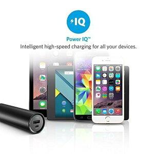 AnkerPowerCore5000(5000mAh最小最軽量スティック型モバイルバッテリー)iPhone/iPad/Xperia/Android各種他対応トラベルポーチ付属【PowerIQ&VoltageBoost搭載】