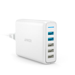 AnkerPowerPortSpeed5(QC3.02ポート搭載、63W5ポートUSB急速充電器)iPhone、Android各種対応