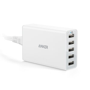 Anker40W5ポートUSB急速充電器ACアダプタPowerIQ搭載