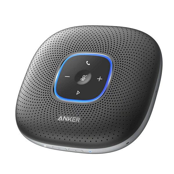 AnkerPowerConf(会議用Bluetoothスピーカーフォン) 全指向性マイク/エコーキャンセリング/ノイズキャンセリ