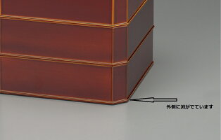 【送料無料】【消費税込】黒春慶隅切重箱6.03段