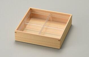 【送料無料】【消費税込】白木重ひのき杢目角重箱6.0ワイドタイプ
