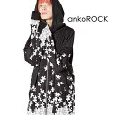 ankoROCK アンコロック パーカー メンズ レディース ユニセックス ジップアップパーカー トップス 長袖 オーバーサイズ ビッグシルエット ストレッチ ロング丈 膝丈 パズル